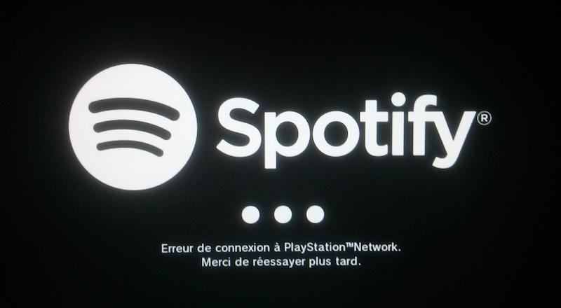 Spotify PSX error